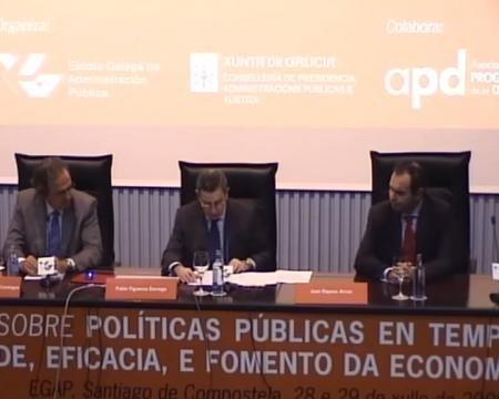 Inauguración - Xornadas sobre Políticas Públicas en tempos de crise: austeridade, eficacia e fomento da economía de Galicia